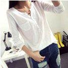 純棉純色寬鬆大碼T恤