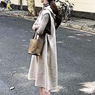韓系 針織連帽無袖背心連身裙