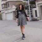韓國早春甜美格紋收腰休閒吊帶洋裝
