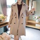 Bellee 正韓 推薦款挺版排釦綁帶風衣外套