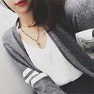 百搭條紋長袖針織衫