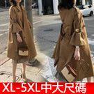 XL-5XL中大尺碼開衫外套風衣