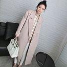 韓國70%羊毛經典款拱針領外套