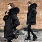 超保暖大毛領羽絨棉外套