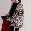 時尚寬鬆繫帶短款針織毛衣外套