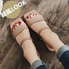一字型平底涼鞋