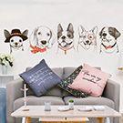 手繪風寵物壁貼