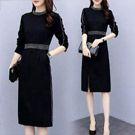 韓國時尚洋裝中長款一步裙