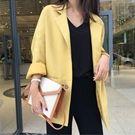 ❀韓國寬鬆初秋款黃色小西裝外套