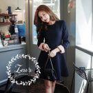 韓國早秋新款氣質顯瘦洋裝