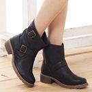 雙皮帶釦工程靴