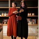 韓國50%羊毛針織赫本洋裝