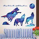 創意星空動物壁貼