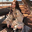 秋季風衣外套中長款寬鬆工裝