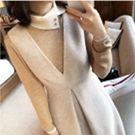 韓國80%羊毛混米翻領針織上衣