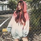 韓版漸層連帽T恤連身裙