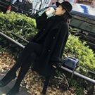 韓國80%羊毛黑色顯瘦短外套