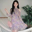 韓國薰衣草花園露肩洋裝