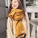 韓版加厚長款針織圍巾