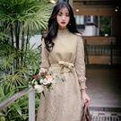 韓國復古娃娃蕾絲兩件式洋裝