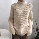 高領加厚保暖長袖針織衫