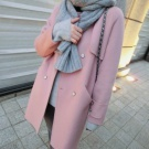 韓國50%羊毛手工大衣♥