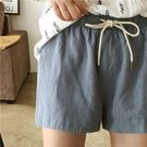 清新舒適自然棉麻短褲
