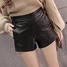 韓版顯瘦靴褲皮褲