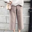 韓國 時尚質感高腰九分褲
