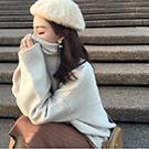 中長款純色高領毛衣