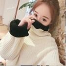 韓版毛線寬鬆清新甜美高領毛衣