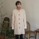 韓國小氣質休閒毛呢大衣