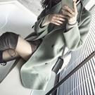 ♥韓國80%雙面羊毛荳蔻綠外套