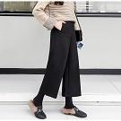 秋冬時尚毛呢高腰寬褲