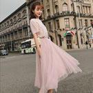 短袖T+網紗裙二件式套裝