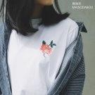 玫瑰刺繡圓領短袖T恤