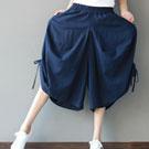 棉質寬鬆大檔闊腿褲
