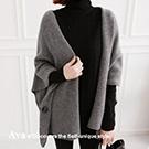 正韓羊毛(wool)混紡素面開襟外套