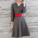 V領顯瘦洋裝