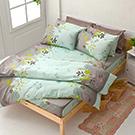 床包/雙人【香草綠】100%純棉