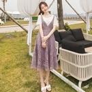 韓國兩件套蕾絲洋裝