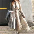 韓國秋裝新款休閒復古洋裝