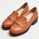 雕花流蘇低跟紳士鞋