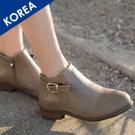 韓.金屬飾低跟短靴