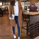 正韓經典修飾口袋長版外套