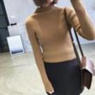 半高領直條紋針織衫