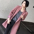 ♥韓國春裝暗紅色西裝外套