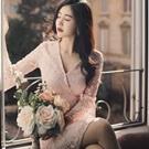 ♥韓國性感蕾絲七分袖洋裝
