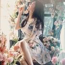 ♥韓國唯美水墨印花蝴蝶洋裝