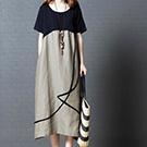 日系棉麻連身裙